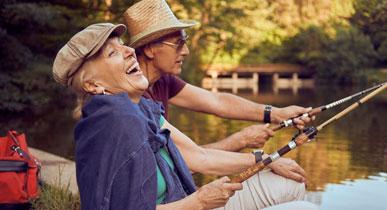 pareja pescando